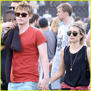 Emma Roberts & Evan Peters Are Inseparable at Coachella 2014