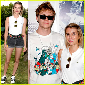 Emma Roberts Rocks Her Daisy Dukes at Coachella Pool Party!