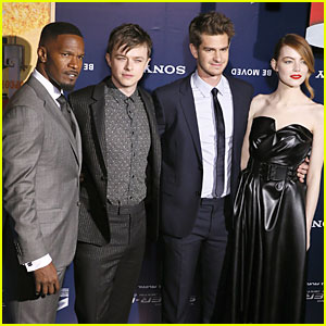 Emma Stone & Andrew Garfield Bring 'Amazing Spider-Man' to the City of Light!