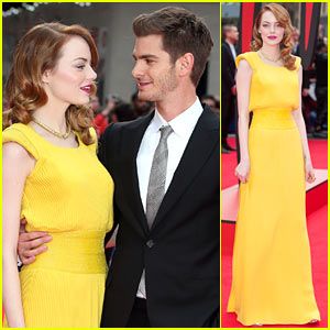 Emma Stone Andrew Garfield Only Have Eyes For Each Other At Amazing Spider Man 2 World Premiere Andrew Garfield Emma Stone Spider Man Just Jared