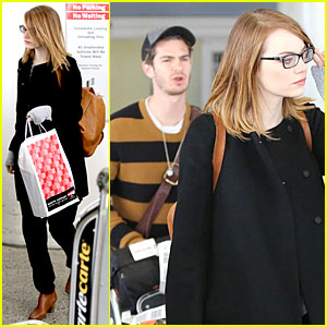 Andrew Garfield Is a True Gentleman to Girlfriend Emma Stone at LAX!