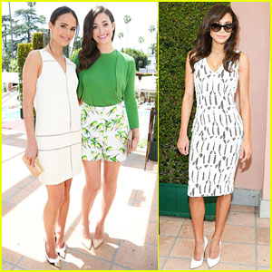 Emmy Rossum & Naya Rivera Are Chic As Can Be for Carolina Herrera Luncheon!