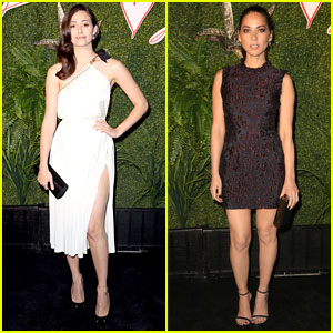 Emmy Rossum & Olivia Munn Buddy Up at Lanvin & Living Beauty's 'Evening of Fashion' Event!