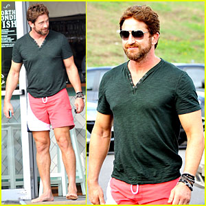 Gerard Butler Shows His Barefoot Confidence at Sydney Bondi Beach Lunch!