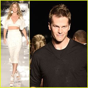 Gisele Bundchen is Cheered On By Husband Tom Brady at Colcci Fashion Show!