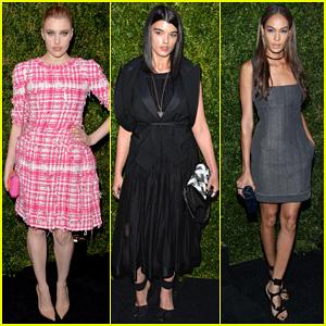 Greta Gerwig & Crystal Renn Get Glam for Chanel Artist Dinner!