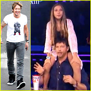 Harry Connick, Jr. Gives Random Girl a Shoulder Ride on 'American Idol' (Video)