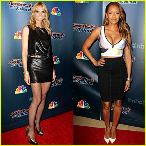 Heidi Klum & Mel B Check Out the Talent in New York City