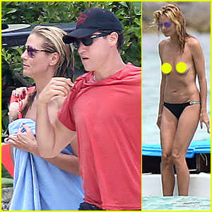 Heidi Klum Continues Topless Vacation with Boyfriend Vito Schnabel!