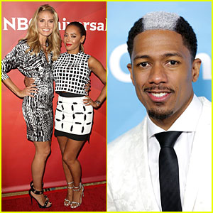 Heidi Klum & Nick Cannon Know How to Wear Black & White at NBC Summer Press Day!