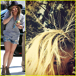 Hilary Duff's Bed Head Gets Some Static Treatment - See the Hilarious Pic!