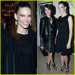 Hilary Swank Joins Berenice Bejo at the Chopard Cocktail Party!