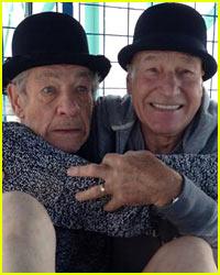 Adorable BFFs Ian McKellen & Patrick Stewart Take Tour of NYC