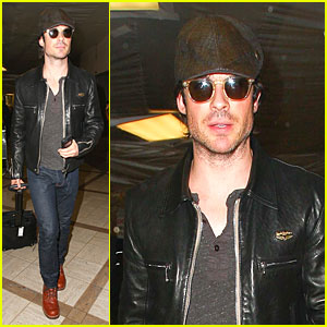 Ian Somerhalder Is Definitely the Hottest Paper Boy at LAX Airport!