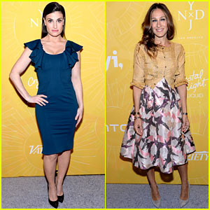 Idina Menzel Jokes Josh Groban 'Got My Name Right' at Variety's Power of Women 2014