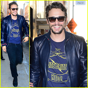 James Franco Is the Happiest Guy Opening His 'New Film Stills' Art Exhibition at Pace Gallery!