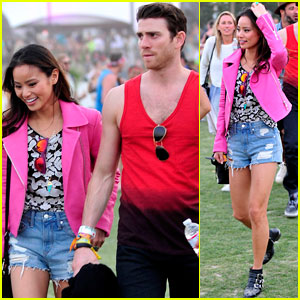 Jamie Chung & Bryan Greenberg Keep Close at Coachella Before Hitting the Neon Carnival