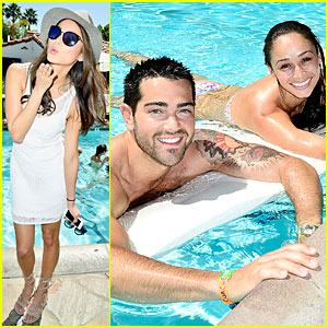 Jamie Chung & Shirtless Jesse Metcalfe Are Poolside Cool at Coachella!