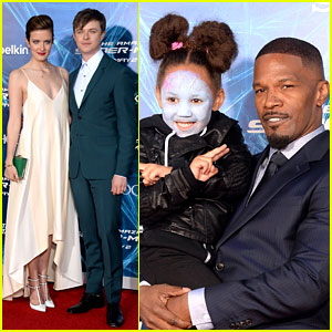 Jamie Foxx's Daughter Wears Electro Makeup at 'Amazing Spider-Man 2' Premiere!