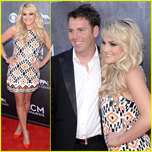 Jamie Lynn Spears & New Hubby Jamie Watson Make Official Red Carpet Debut at ACM Awards 2014!