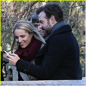 Jason Sudeikis Beams While Showing Dianna Agron Pics of Newborn Baby Otis!