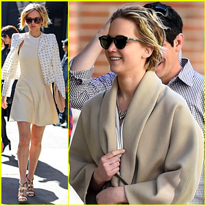 Jennifer Lawrence Goes Glam for 'GMA,' Spends Easter in NYC