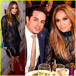 Jennifer Lopez Receives GLAAD's Vanguard Award with Boyfriend Casper Smart By Her Side!