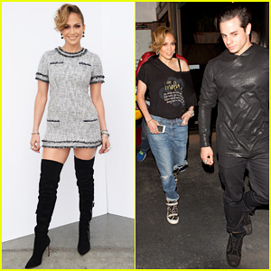 Jennifer Lopez Grabs Dinner with Boyfriend Casper Smart After 'American Idol'