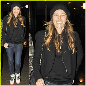 Jessica Biel's Big Smile Shows Her Excitement for Friday Movie Nights!