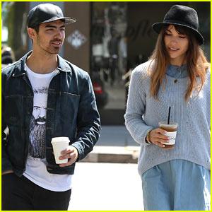 Joe Jonas & Blanda Eggenschwiler Use Fashionable Hats to Keep Sun's Rays Away!