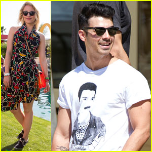 Joe Jonas & Dianna Agron: Desert Pool Party Pals at Coachella!