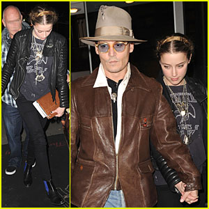 Johnny Depp & Amber Heard Are Surrounded By Books on Her 28th Birthday!