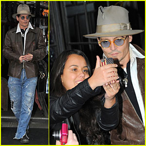 Johnny Depp Poses For Sweet Selfie with Fan in NYC!