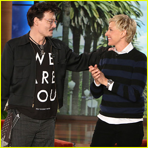 Johnny Depp Talks Feeling Calmer Since Turning 50 on 'Ellen'
