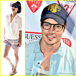 Josh Henderson & Jamie Chung Party with Guess at Coachella!