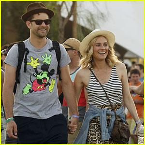 Joshua Jackson & Diane Kruger Are Inseparable at Coachella!