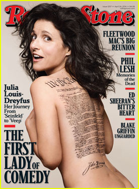Julia Louis-Dreyfus Goes Naked for 'Rolling Stone' Cover!
