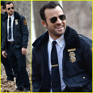 Justin Theroux Looks All Kinds of Good in His Police Uniform For 'The Leftovers'