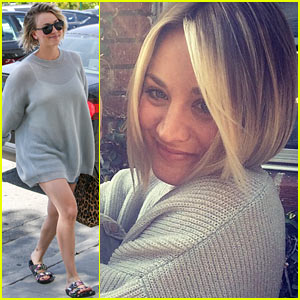Kaley Cuoco Cuts Her Hair Short, D