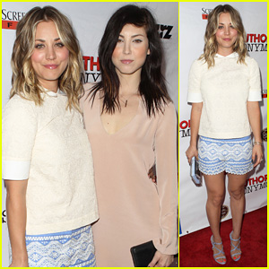 Kaley Cuoco Hits the Premiere of 'Authors Anonymous' with Sister Briana!
