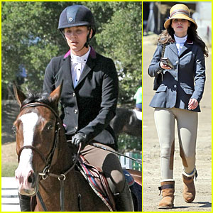 Kaley Cuoco & Zooey Deschanel Just Can't Stop Horseback Riding!