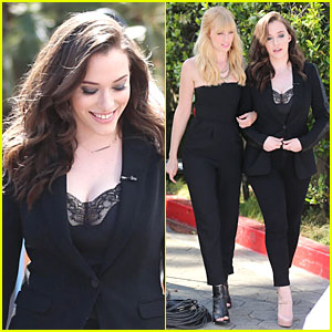 Kat Dennings & Beth Behrs Give Us 'Extra' Access on '2 Broke Girls'!