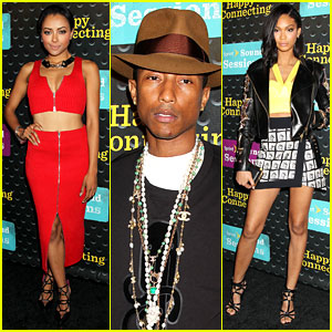 Kat Graham & Chanel Iman Are Treated to the 'Sound' of Pharrell
