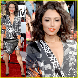 Kat Graham Goes for Printed Dress Look at MTV Movie Awards 2014!