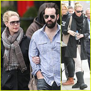 Katherine Heigl Holds Tight to Husband Josh Kelley in NYC!