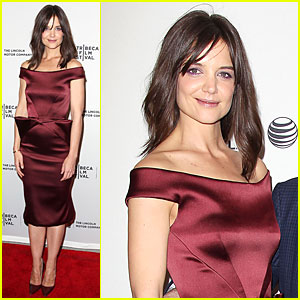 Katie Holmes Radiates in Red at 'Miss Meadows' Tribeca Premiere!