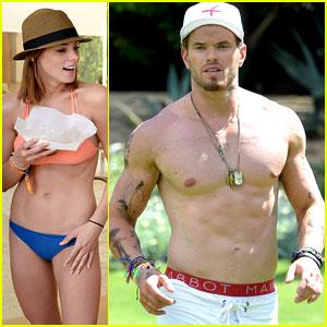 Kellan Lutz & Ashley Greene Show Off Hot Bodies at Coachella Pool Party!
