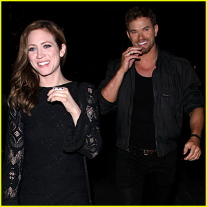 Kellan Lutz & Brittany Snow Couldn't Smile Wider at Dinner!