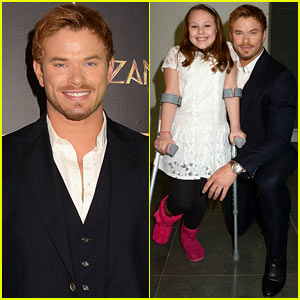 Kellan Lutz Makes Young Girl's Day at 'Tarzan' Ireland Premiere!