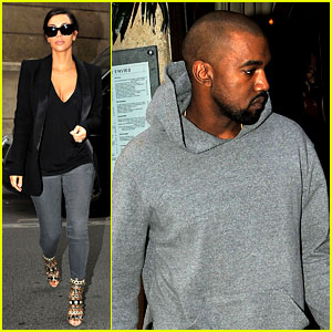 Kim Kardashian & Kanye West Work Out & Have Lunch in Paris!